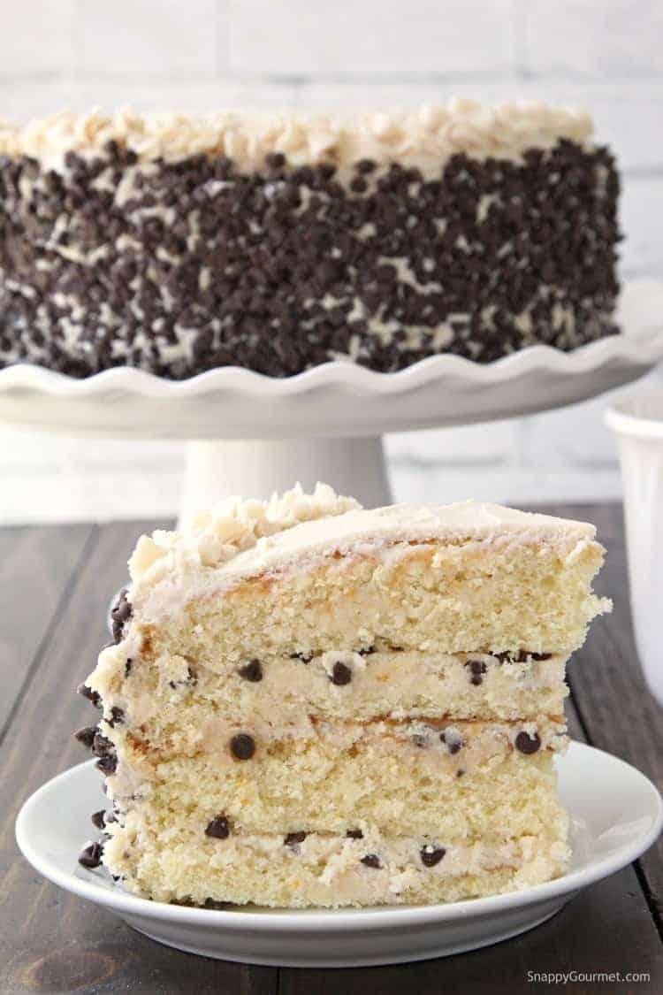 Cannoli Cake Recipe - an easy homemade layered cannoli cake