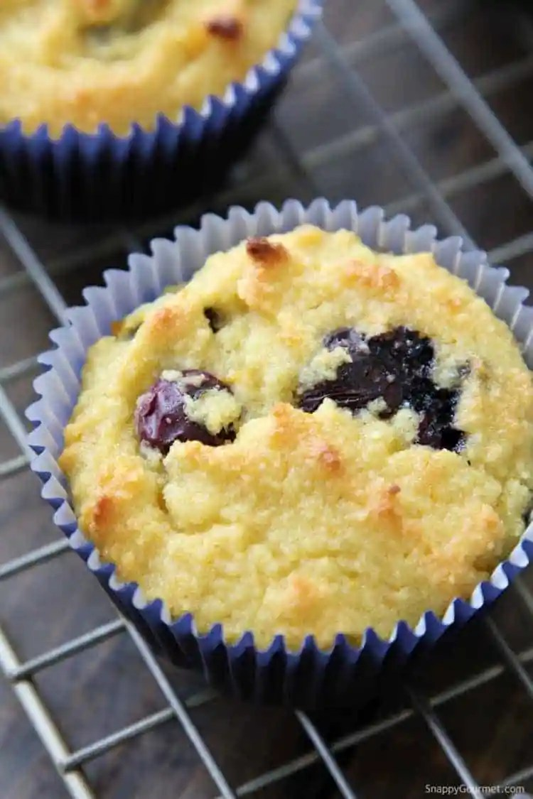 Almond Flour Blueberry Muffins Recipe - quick and simple gluten free muffins