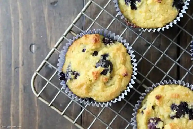 Almond Flour Blueberry Muffins Recipe - low carb muffins with almond flour