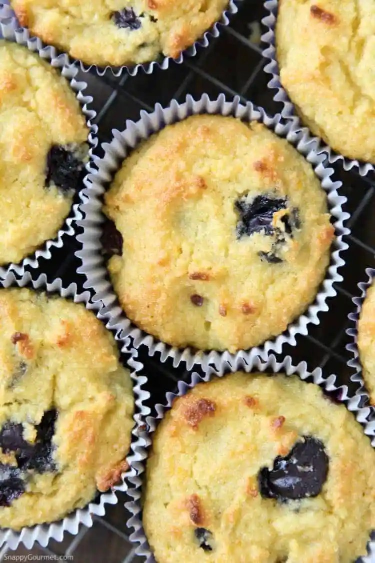 Almond Flour Blueberry Muffins Recipe - low carb blueberry muffins with almond flour