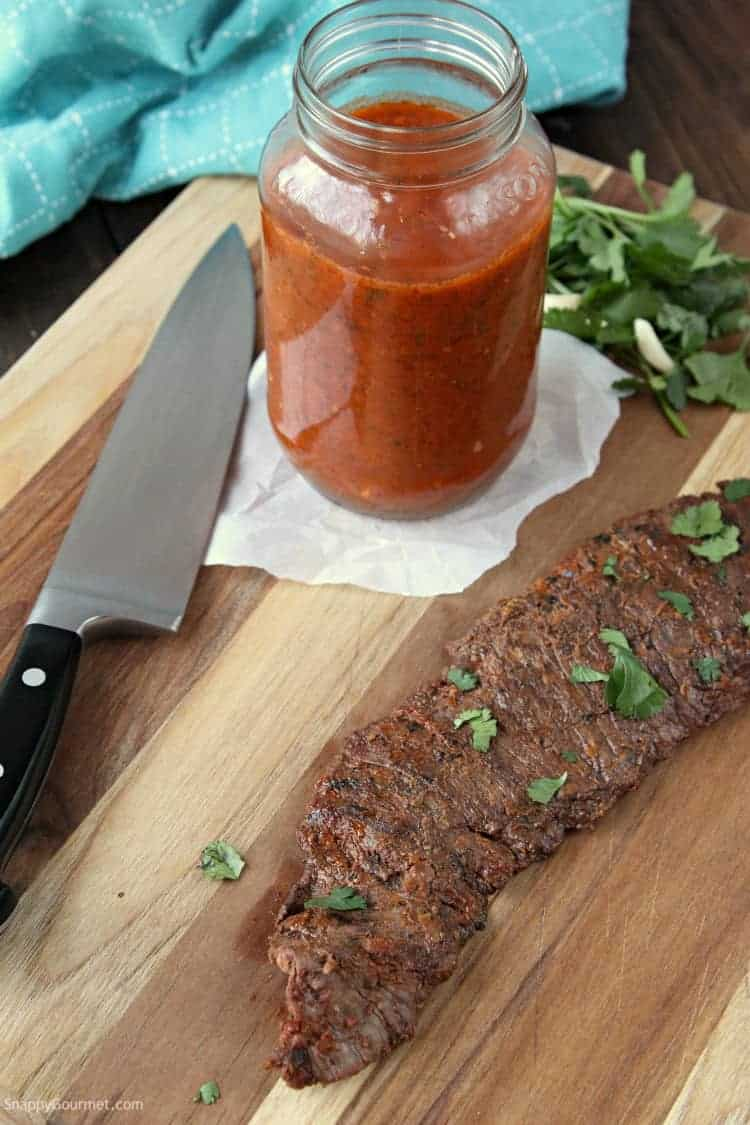 Mexican Steak Marinade Recipe - easy beef marinade perfect for flank steak, skirt steak, or even pork or grilled chicken