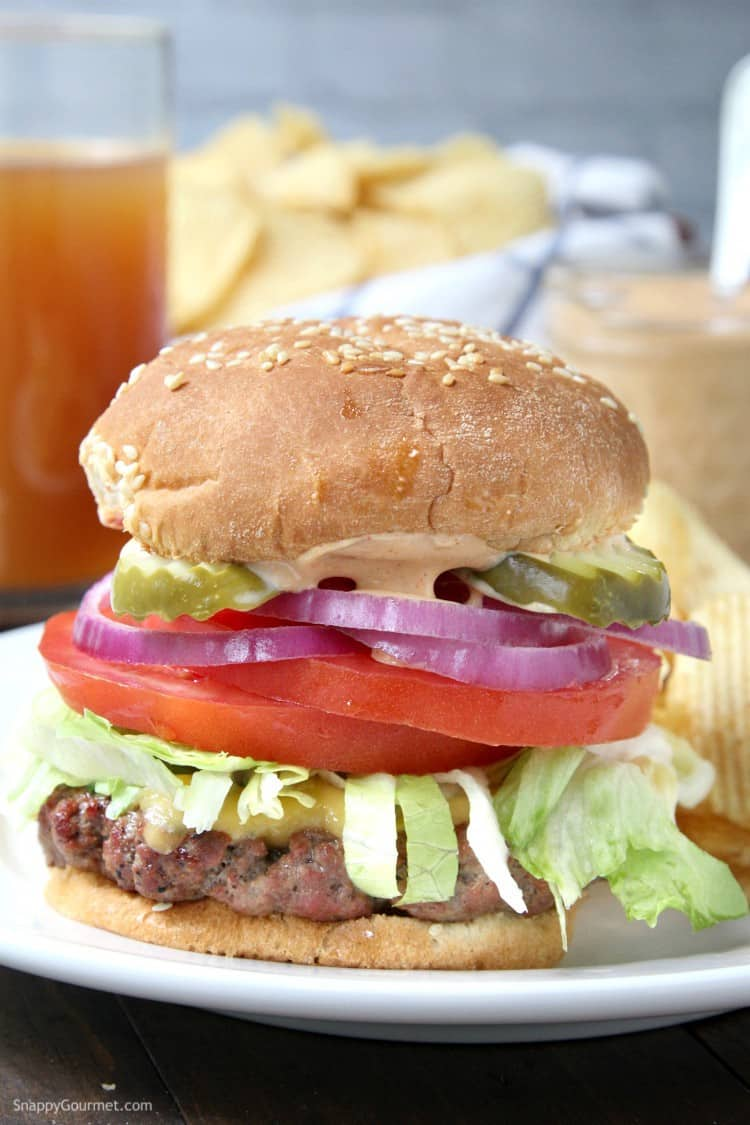 Killer Burger Recipe - an easy All American Burger with secret sauce