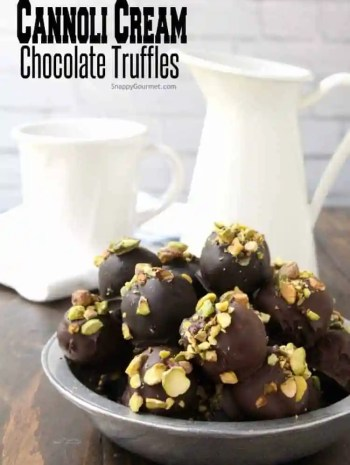 Cannoli Cream Chocolate Truffles Recipe