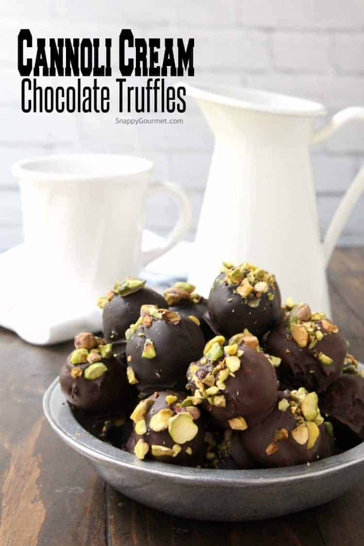 Cannoli Cream Chocolate Truffles - how to make truffles based on the popular Italian pastry