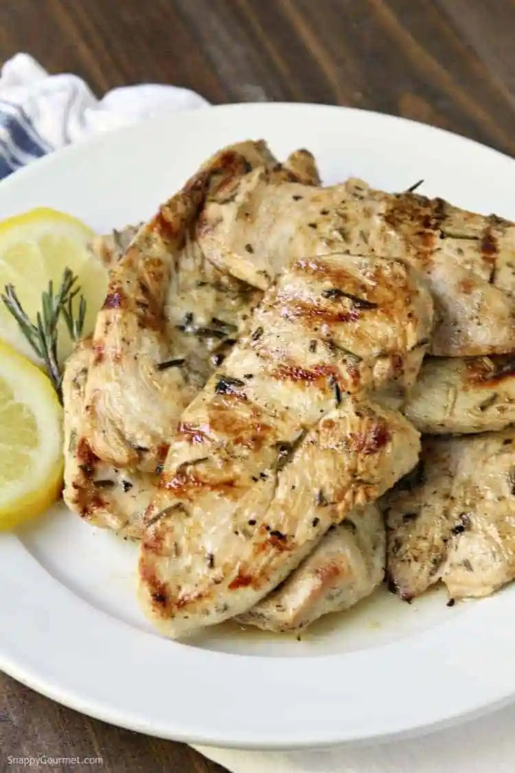 Grilled Lemon Rosemary Chicken - an easy grilled chicken recipe with fresh herbs and lemon