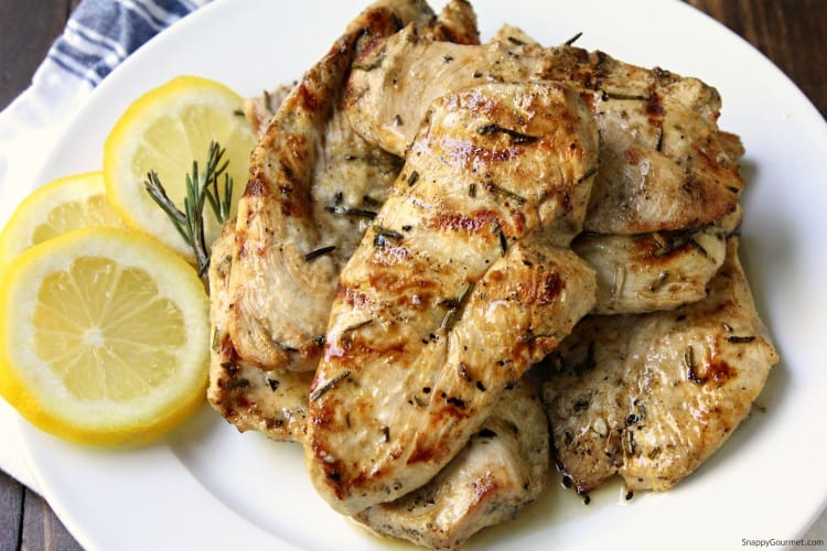 Grilled Lemon Rosemary Chicken - an easy chicken recipe with a quick marinade