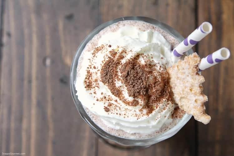 Homemade Cannoli Milkshake - how to make the best milkshake that is a twist on a cannoli