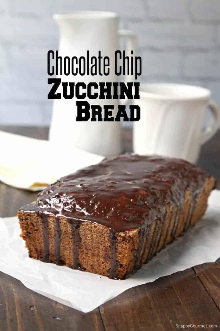 Chocolate Chip Zucchini Bread - recipe for zucchini bread with chocolate chips