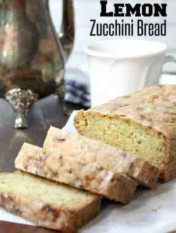 Lemon Zucchini Bread - easy zucchini bread recipe with fresh lemon and an easy lemon glaze