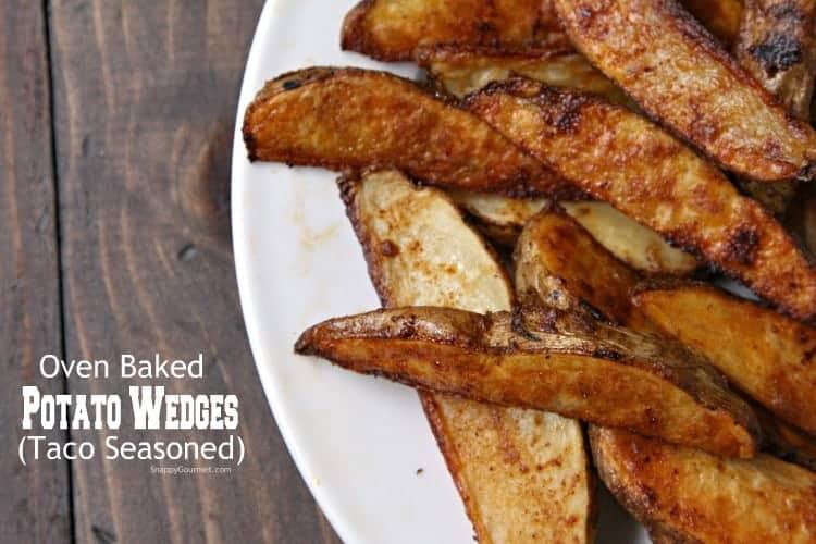 Oven Baked Potato Wedges - easy homemade potato wedges
