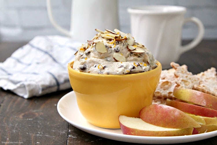 Cannoli Dip (Orange Almond) - how to make cannoli dip with orange and almond flavors