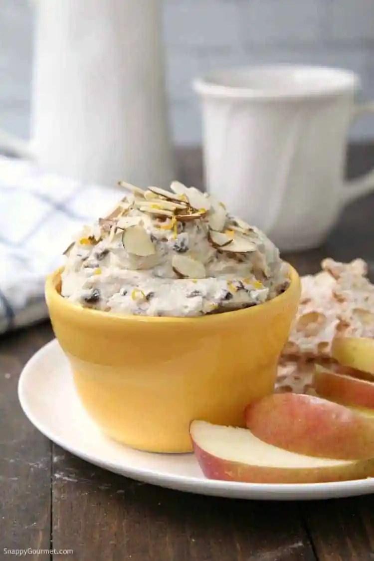 Cannoli Dip (Orange Almond) - easy cannoli dip with mascarpone and ricotta