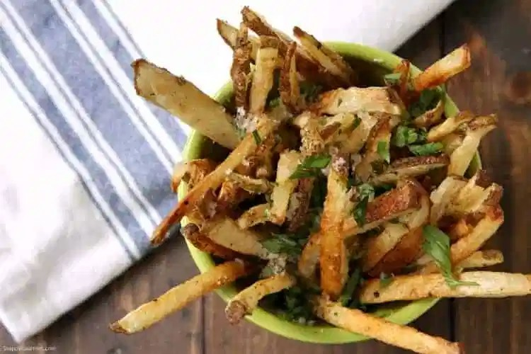 Truffle Fries - homemade baked french fries with Parmesan and truffle oil