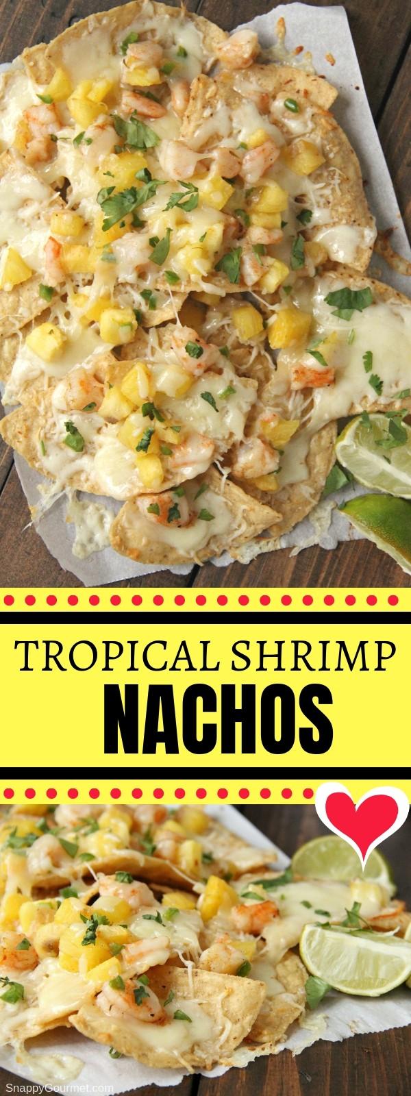 shrimp nacho collage