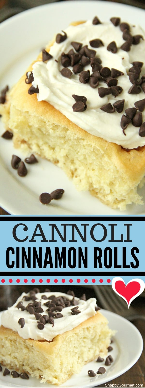 Cannoli Cinnamon Rolls collage