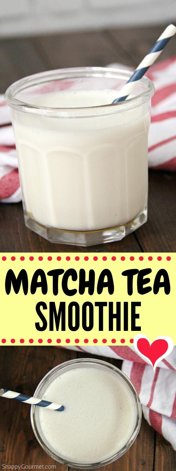 Matcha Smoothie photo collage
