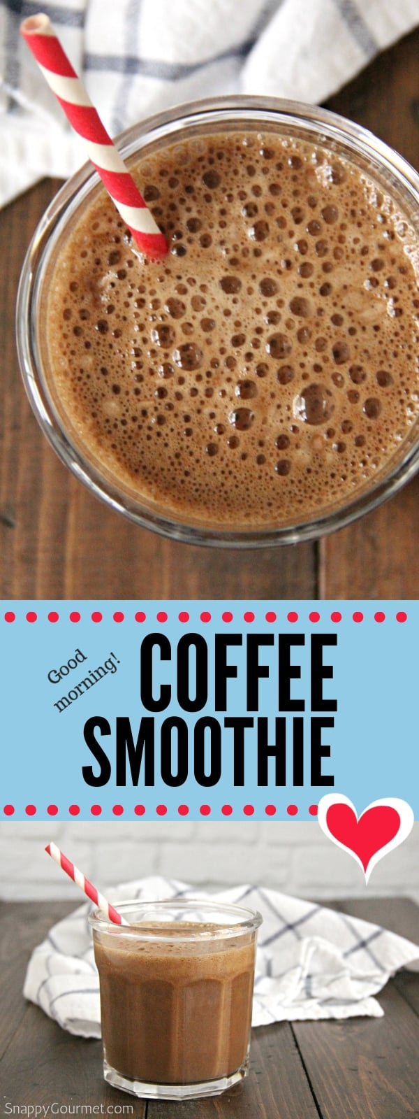 coffee smoothie photo collage