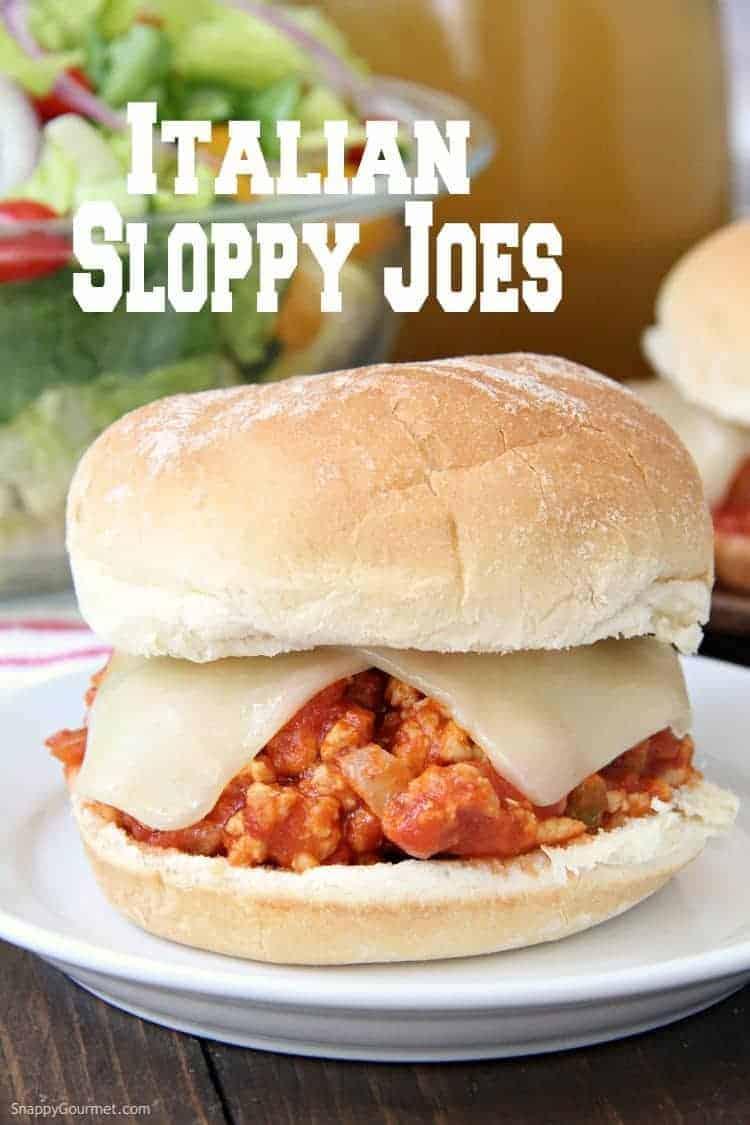 Italian Chicken Sloppy Joe on plate