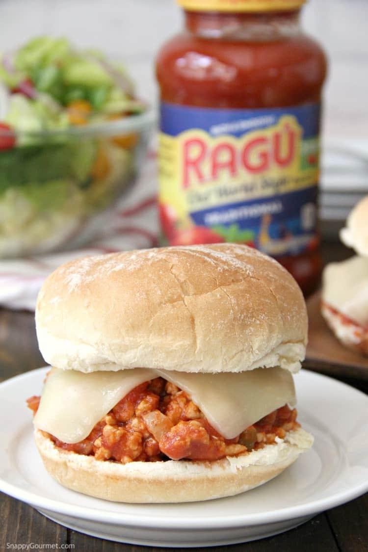 Italian Sloppy Joe with Ragu sauce