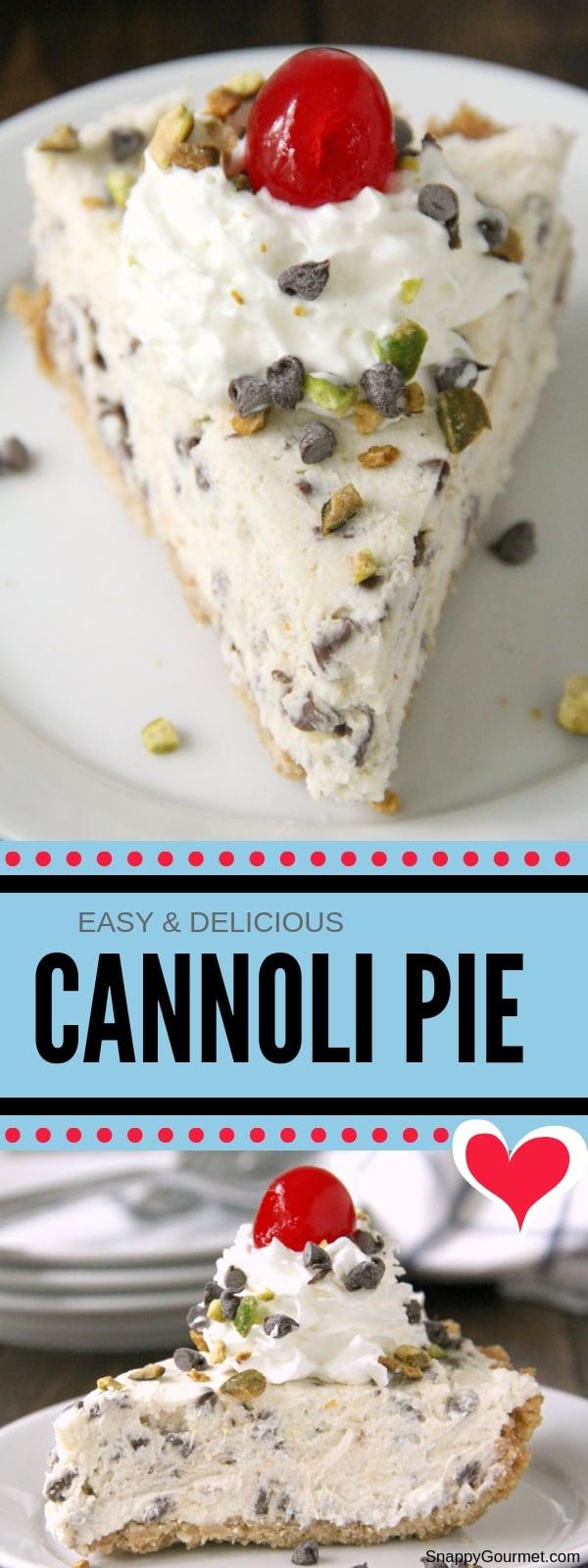 cannoli pie collage