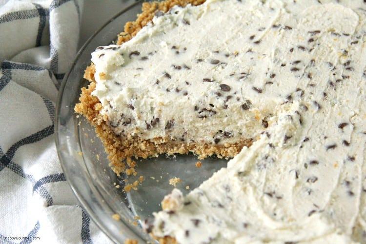 cannoli pie in pie plate