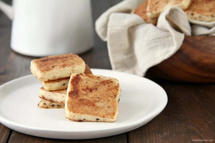 Tiramisu Cookies on white plate