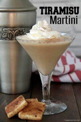Tiramisu Martini in martini glass