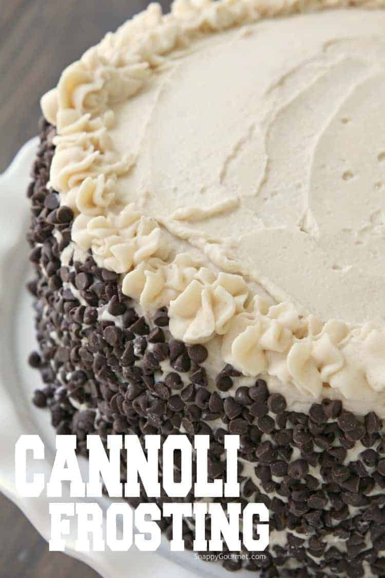 Cannoli Frosting on cake