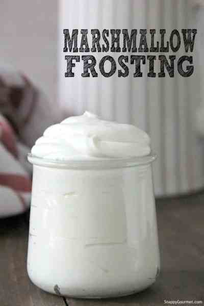marshmallow frosting in jar