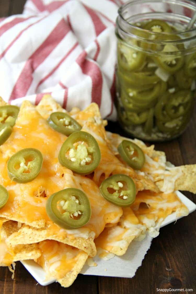 Pickled Jalapenos on nachos