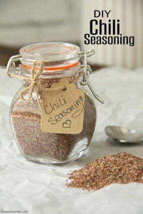 chili seasoning in jar