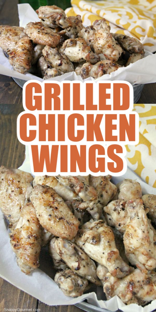collage of grilled chicken wings