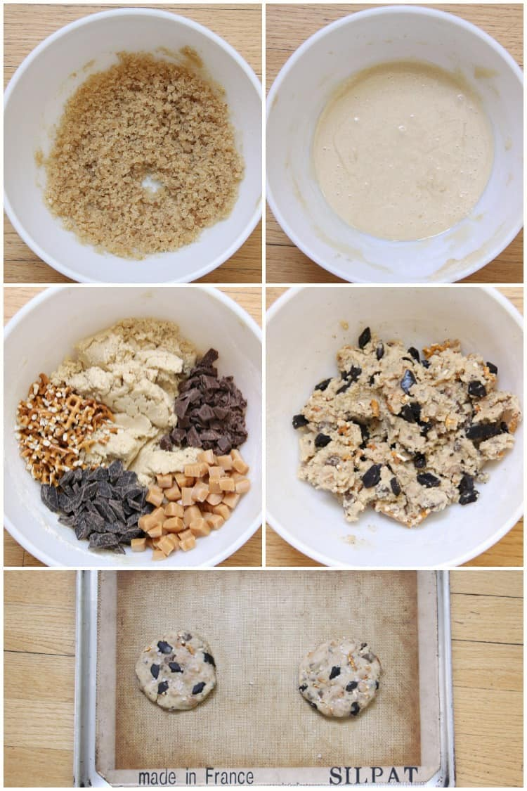 Steps to make Kitchen Sink Cookie in mixing bowl