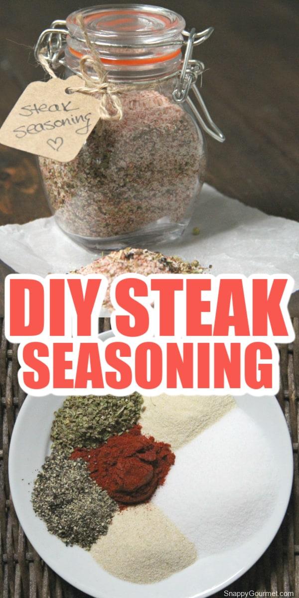 steak seasoning collage