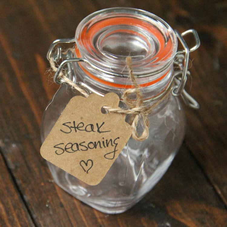 glass jar with gift tag