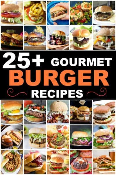 collage of burger photos