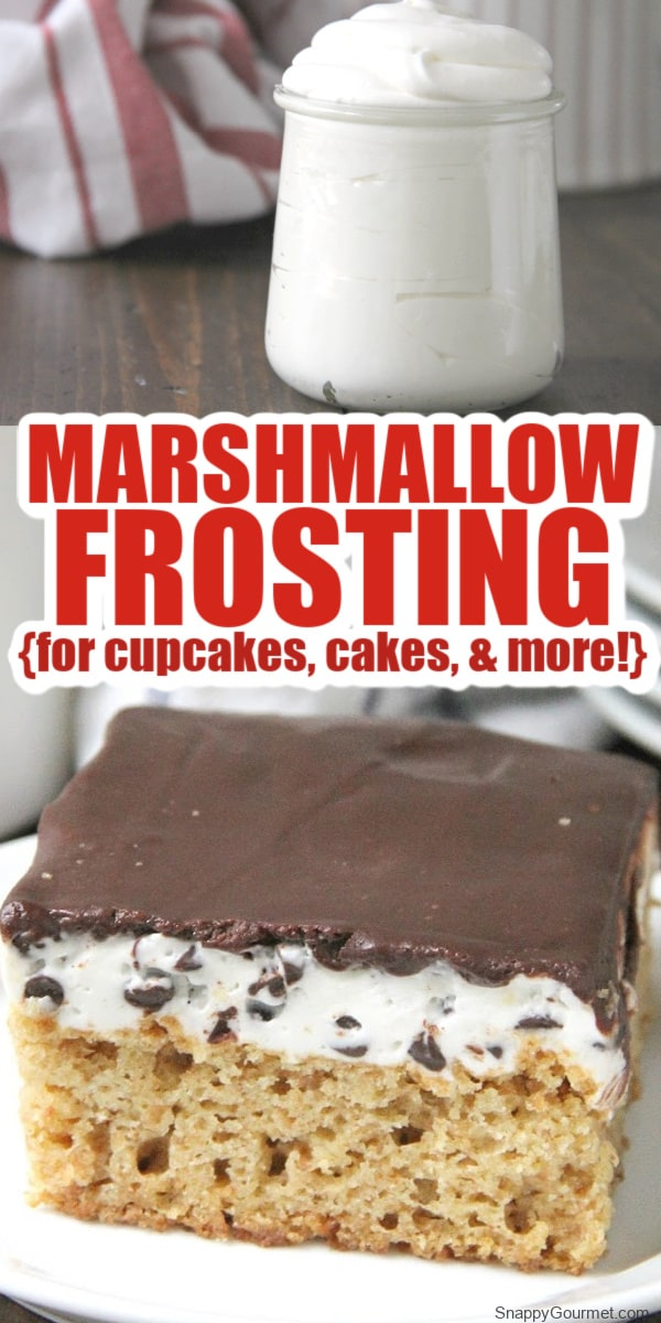 marshmallow frosting and s'mores cake