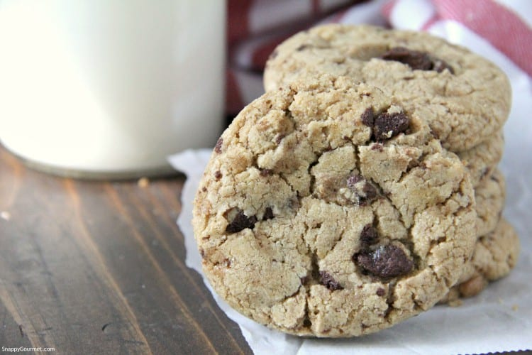 front view of Mexican Hot Chocolate Cookies with chocolate chunks