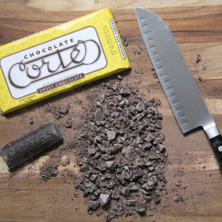 chopped Mexican chocolate