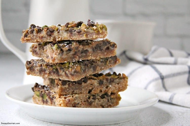 cookies stacked on plate