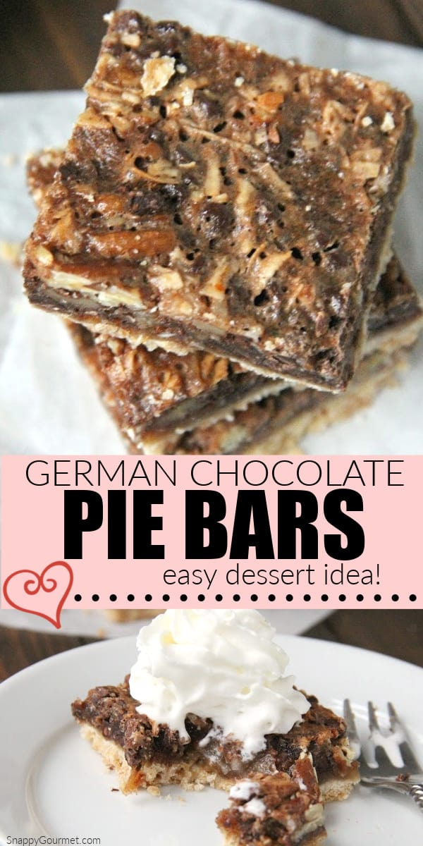 collage of pie bars