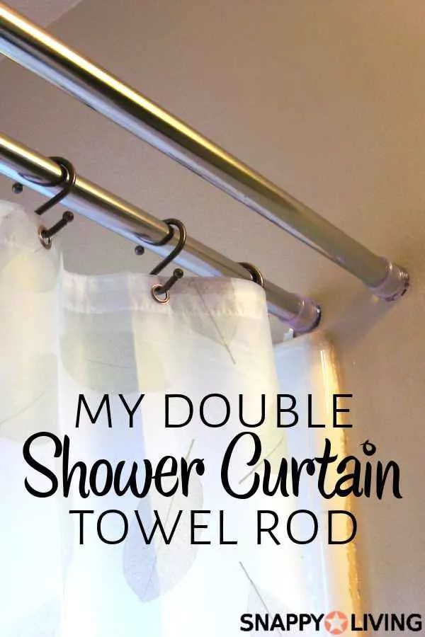 own double shower curtain rod
