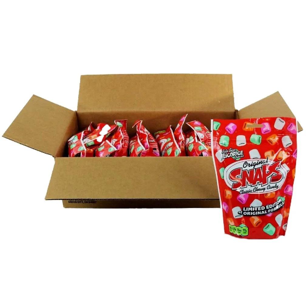 Snaps Original Chewy Candy 12oz box