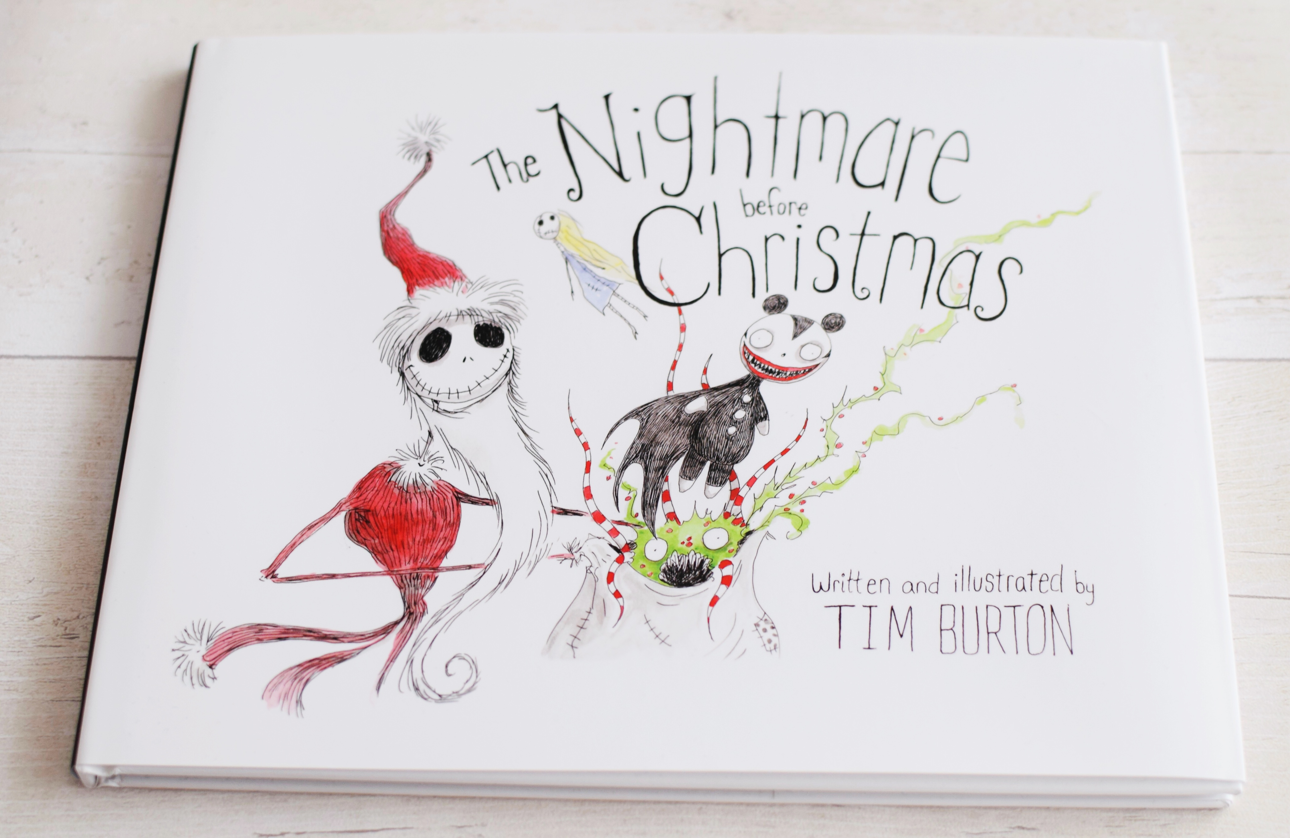 cover art nightmare before christmas book