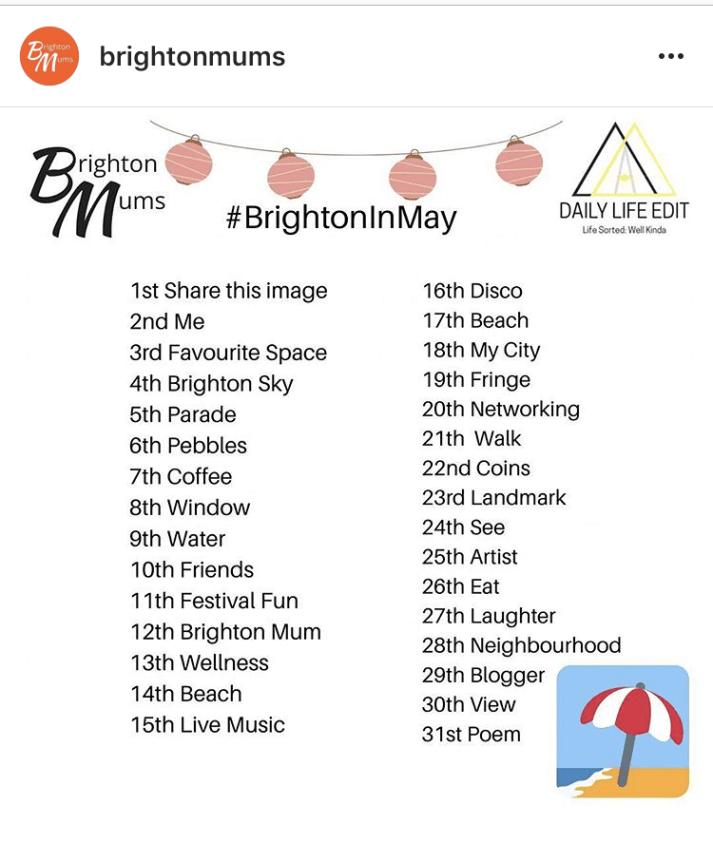 brightoninmay instagram challenge prompts