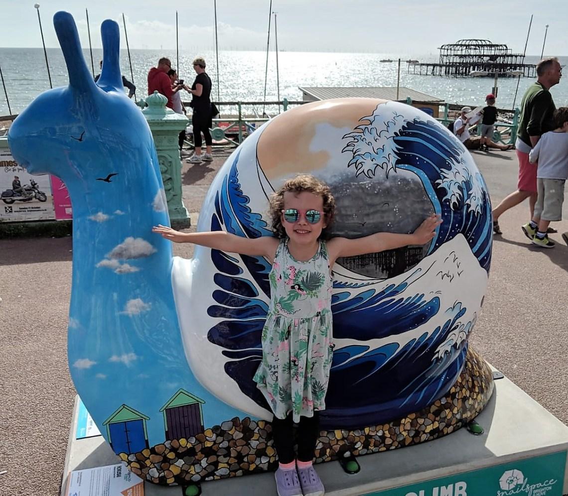 snail art trail brighton west pier