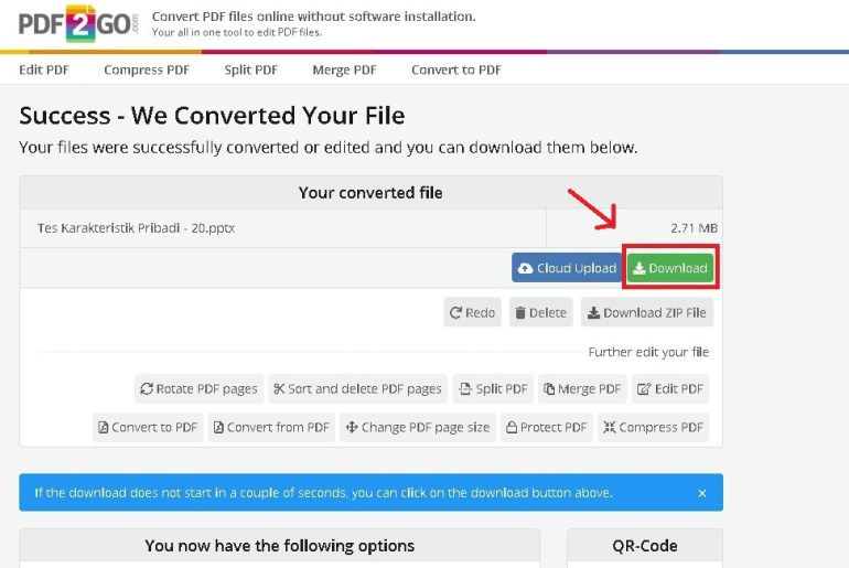 donwload file ppt after converted from pdf