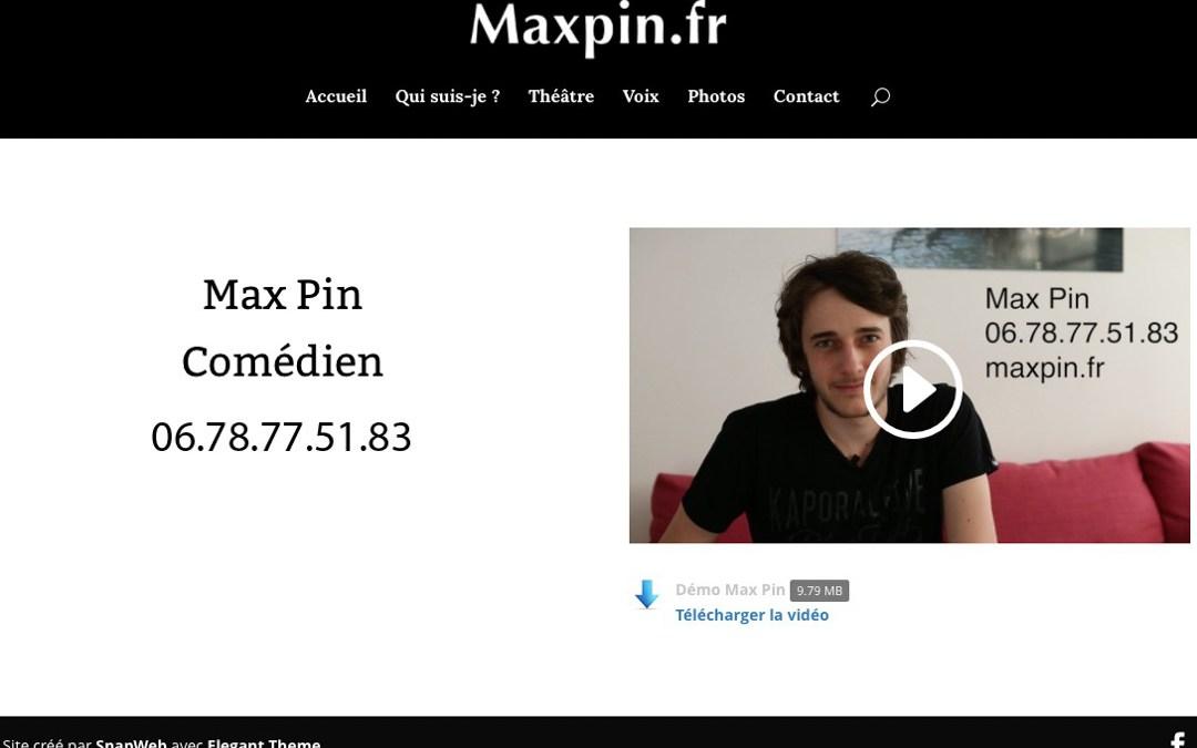SnapWeb présente le site de Max Pin, comédien !