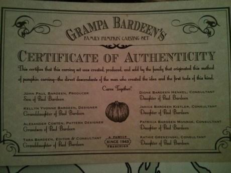 grampa_bardeens_family_pumpkin_carving_set_certificate