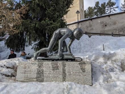 st_moritz_cresta_run_statue